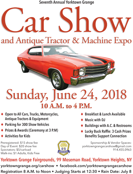 Yorktown Grange Car Show And Antique Tractor Machine Expo Town - Car show calendar